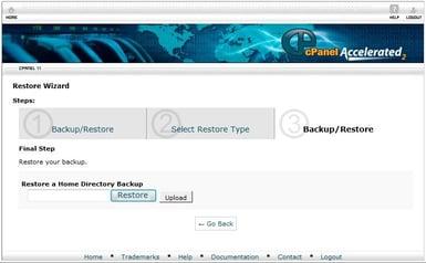Restoring your backup