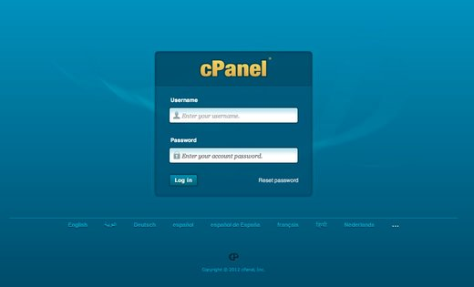 Accessing cPanel