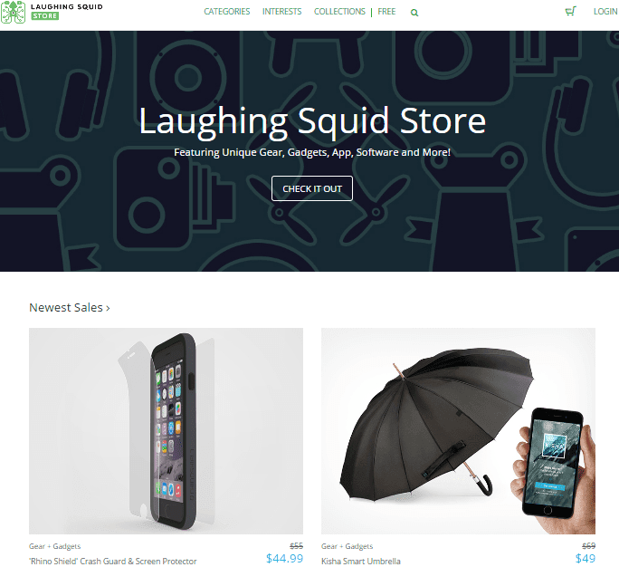 Laughing Squid store screenshot
