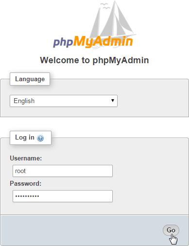 phpMyAdmin Login as root User
