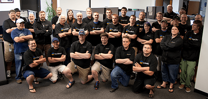 A photo of the Liquid Web Heroic Support team