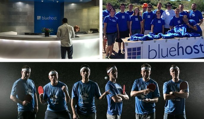 Photos of the BlueHost team members