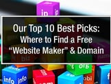 Top 10 Options: Free Website Maker with Free Domain Name