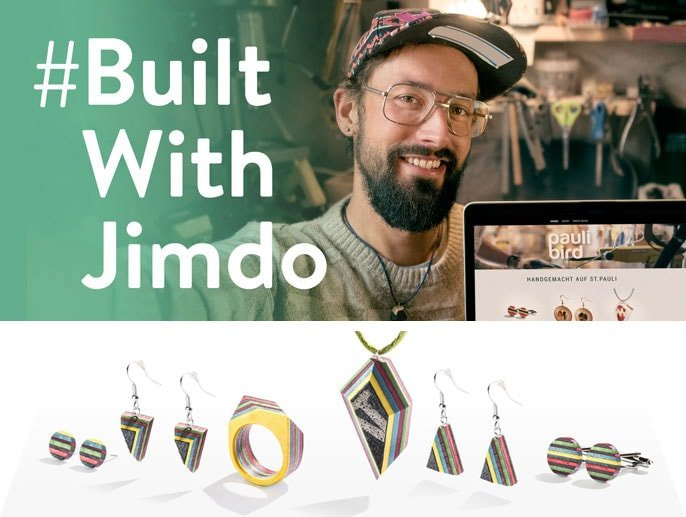 Jimdo user Maurice Schadowske and his jewelry made from skateboards