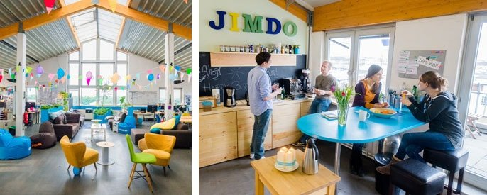 Jimdo's colorful offices in Hamburg, Germany