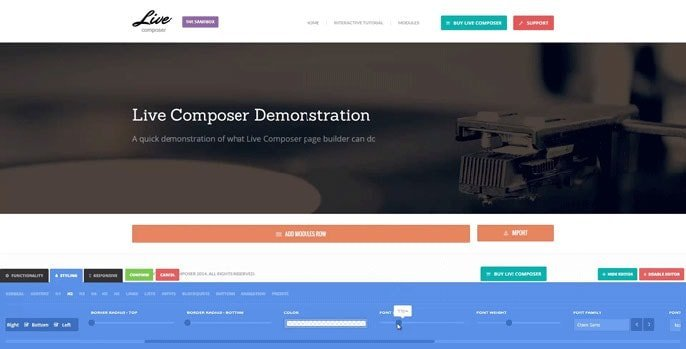 Live Composer WordPress plugin screenshot