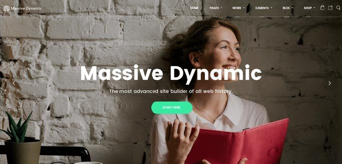 Massive Dynamic WordPress theme screenshot