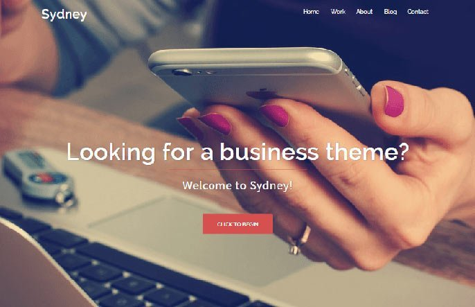 Sydney WordPress theme screenshot
