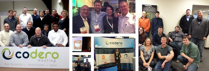 Codero employees at conferences and offices in Kansas City and Austin