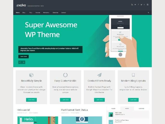 Evolve WordPress theme screenshot