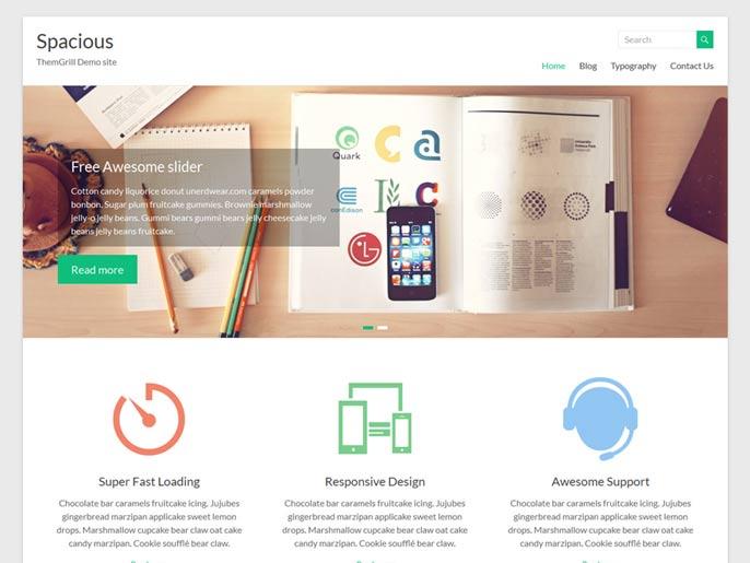 Spacious WordPress theme screenshot