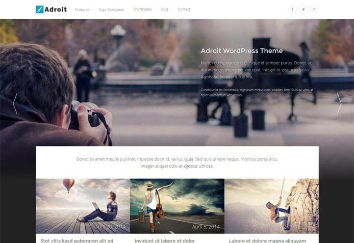 Adroit WordPress Theme