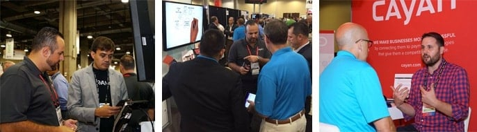 Photos from Cayan's RetailNOW booth