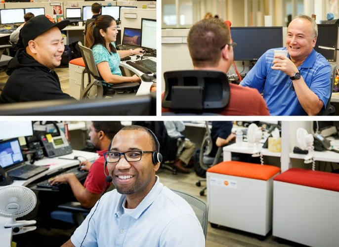 Photo collage of Intermedia tech support
