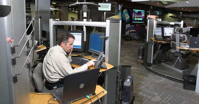 Image of Symantec's Security Operations Center