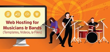 10 Best: Web Hosting for Musicians & Bands (Templates, Videos, Files)