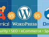 Joomla vs. WordPress vs. Drupal: Security, SEO, eCommerce, Speed