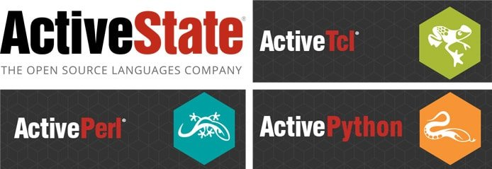 ActiveState logo with ActiveTcl, ActivePerl, and ActivePython logos