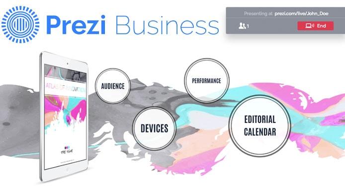 Screenshot of Prezi Business