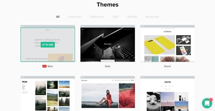 Screenshot of Format themes