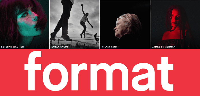 Format logo and collage of photographers' work