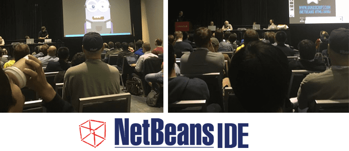 Photo of people attending a lecture at NetBeans Day