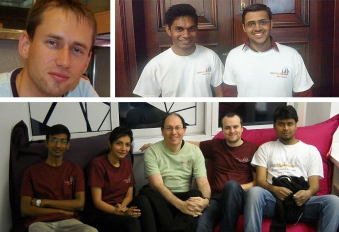Collection of images showing phpMyAdmin team members