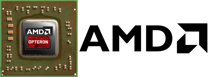 Collage of microchip and AMD logo