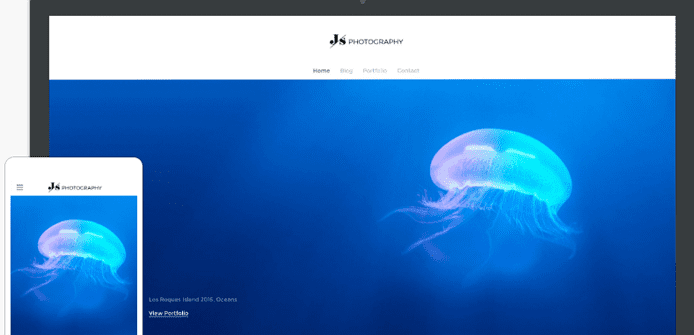 Screenshot of Weebly's Journey theme