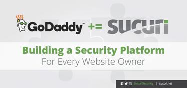 GoDaddy and Sucuri logos