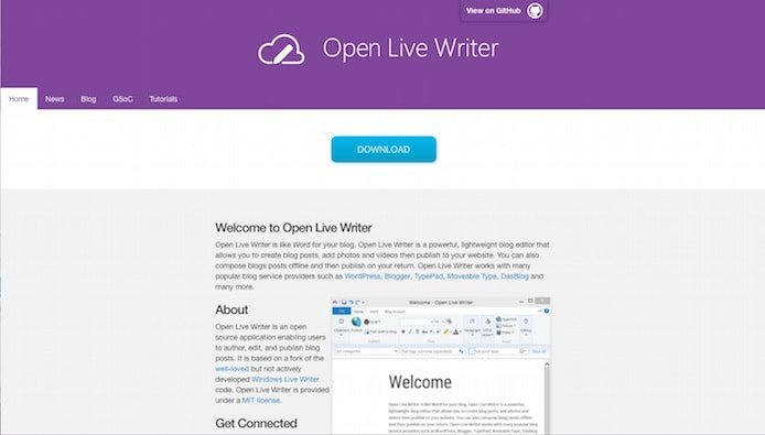Open Live Writer screenshot