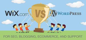 """Wix vs. WordPress"" for SEO, Blogging, or eCommerce (6 Factors, 1 Verdict)"