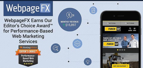 WebpageFX Earns Our Editor's Choice Award™ for Performance-Based Web Marketing Services