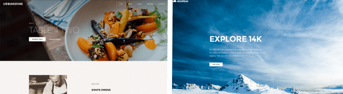 Screenshot of Weebly templates