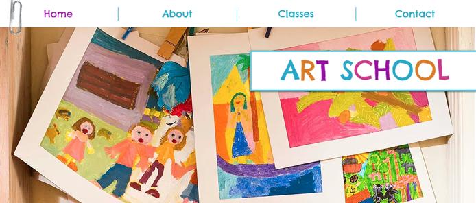 Screenshot of Wix Art School template