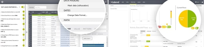 Screenshots of Talend products