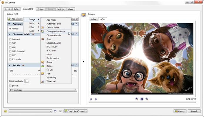 Screenshot of XnConvert