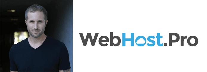 Charles Yarborough's headshot and WebHost.Pro logo