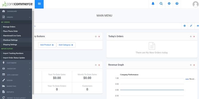 Screenshot of administrative interface