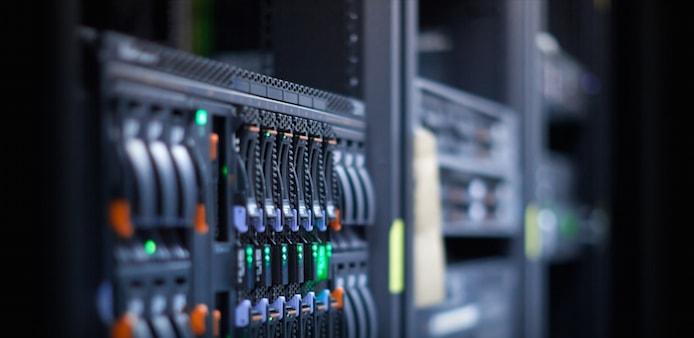 Photo of server rack