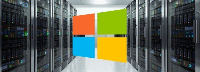 Windows logo and servers