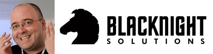 Michele Neylon's headshot and the Blacknight logo