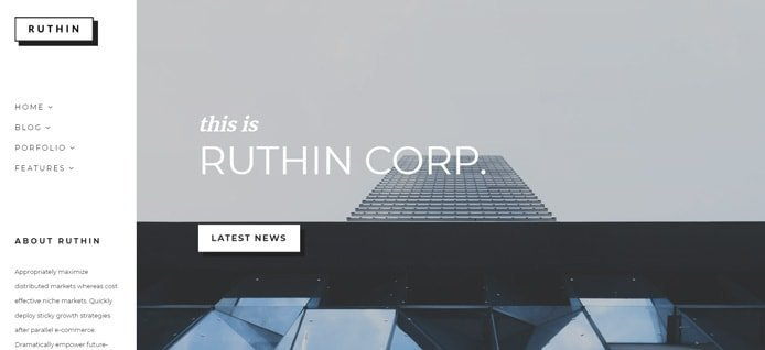 Screenshot of Ruthin WordPress theme