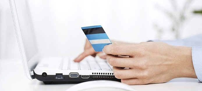 Image of someone making an online payment
