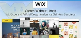 Wix Sets New Standards for Site and App Creation: Using Artificial Design Intelligence and Wix Code™ to Create Custom Solutions
