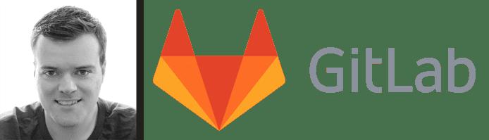 Sid Sijbrandij's headshot and the GitLab logo