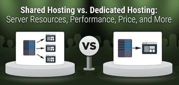 """Shared Hosting vs. Dedicated Hosting"" — Server Differences (2020)"