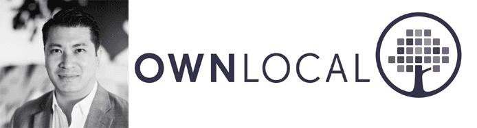 Landon Morales's headshot and the OwnLocal logo