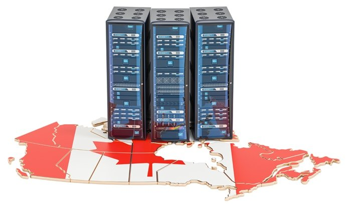 Photo of servers sitting on top of Canada