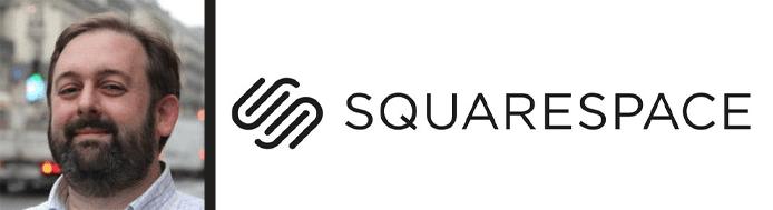 Matt Zito's headshot and the Squarespace logo